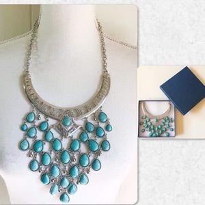 Jewelry - Howlite Chandelier Statement Necklace